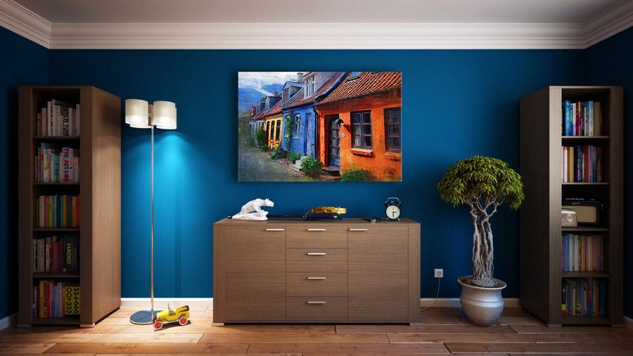 Wohnraum mit LED Beleuchtung